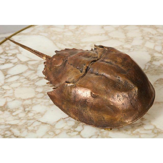 "Bespoke ""Limule"" Horse Shoe Crab Bronze Sconce by Bernard Figueroa For Sale - Image 4 of 7"