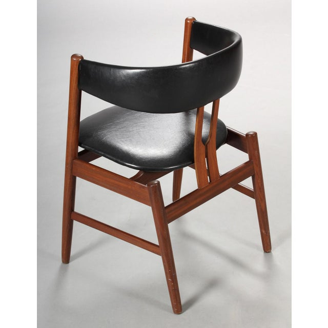 Wood Rare Danish Armchair in the Style of Kai Kristiansen For Sale - Image 7 of 8