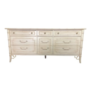 Chippendale Thomasville Allegro Faux Bamboo Dresser