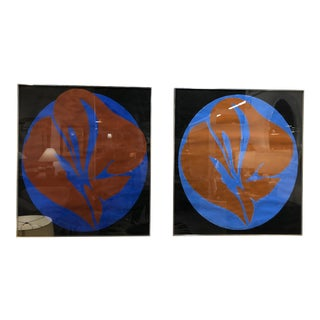 Pair Jack Youngerman Abstract Painting For Sale