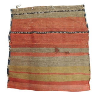 "Vintage Orange and Red Kilim ""Mafrash"" Grain Sack Fragment For Sale"