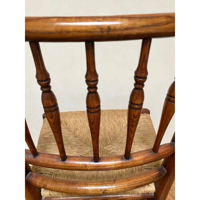 19th Century Americana Side Chair With Rush Seat For Sale - Image 4 of 10