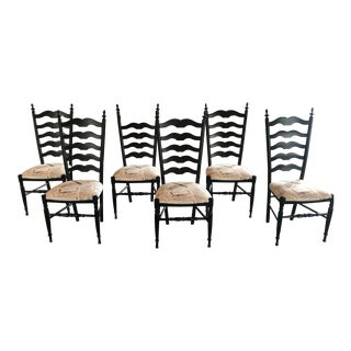 Arhaus Script Dining Chairs - Set of 6 For Sale