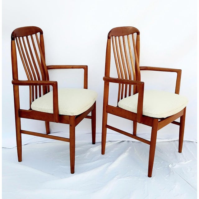 Two Benny Linden mid century modern arm chairs in excellent condition. So nice they almost look new. Upholstery is in...