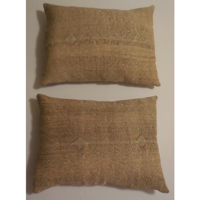 Rug Fragment Geometric Cream Pillow - Pair - Image 2 of 11