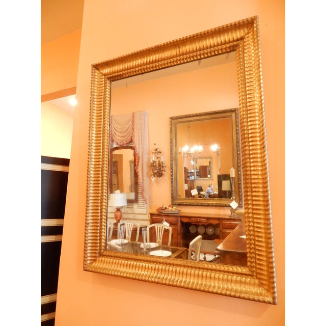 Charles X 19th C. Gold Gilt Mirror For Sale In New Orleans - Image 6 of 7