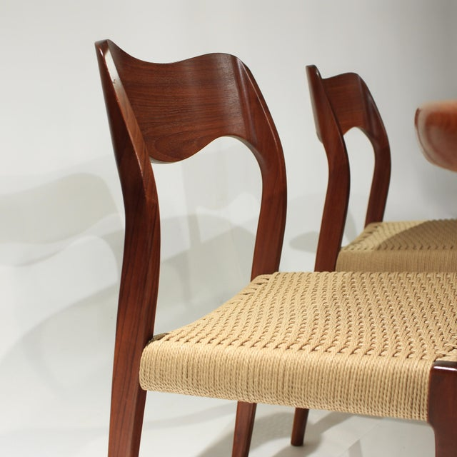 1960s Møller Model 71 & 55 Chairs and Vv Møbler Extension Table - 7 Piece Dining Set For Sale - Image 5 of 12