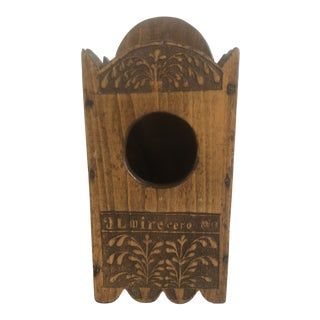 19th Century Primitive Clock Holder Box For Sale