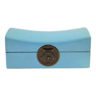 Chinese Pastel Blue Pillow Shape Container Box