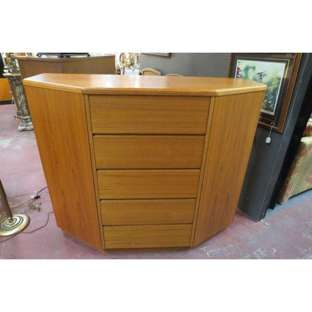 Danish Modern 1960s Danish Modern Teak Cabinet/Chest/Dresser For Sale - Image 3 of 3