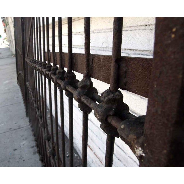 1800s Forged Iron Dual Driveway Gates - a Pair For Sale - Image 9 of 10