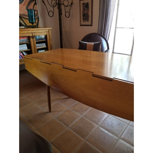 Barney Flagg for Drexel Parallel Drop Leaf Dining Table - Image 3 of 8