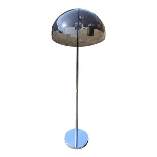 1960s Mid-Century Modern Space Aged Smoked Lucite & Chrome Floor Lamp For Sale