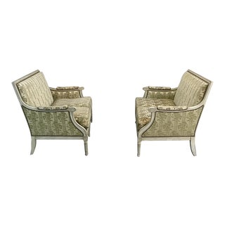 Pair Antique French Louis XVI Painted Sofas For Sale