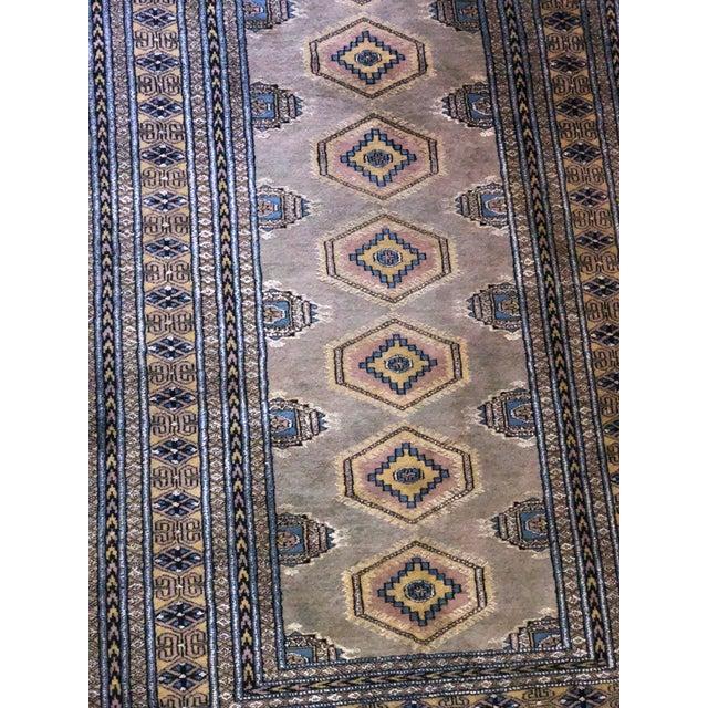 Silk Vintage Tribal Bokhara Rug For Sale - Image 7 of 8