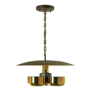 Gerald Thurston Brass Ceiling Pendant Light for Lightolier, Circa 1950's For Sale