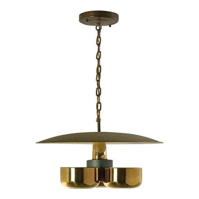 Gerald Thurston Brass Ceiling Pendant Light for Lightolier, Circa 1950's For Sale