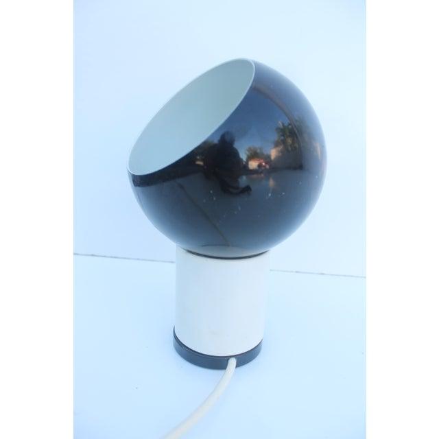 Valenti & Co. Italian Mod White & Black Table Lamp - Image 5 of 9