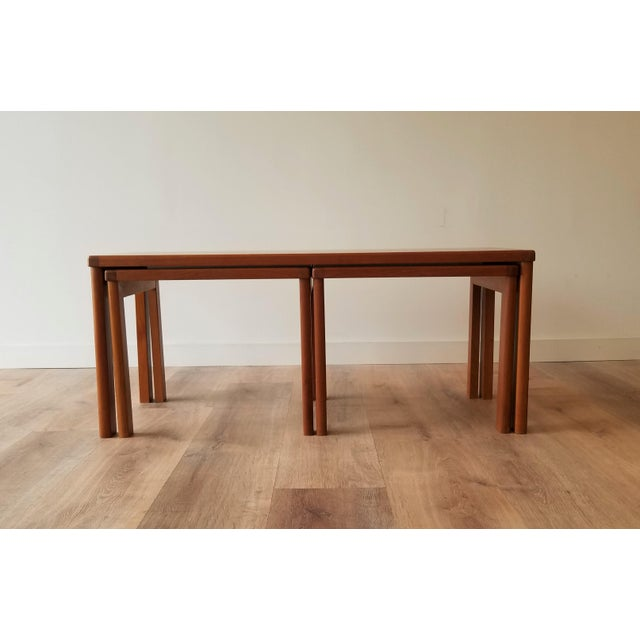 Mid 20th Century Vejle Stole & Møbelfabrik Teak Coffee Table With Nesting Side Tables - 3 Pieces For Sale - Image 5 of 13
