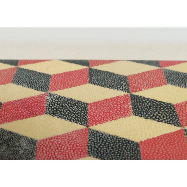 Fabio Ltd Red and Black Shagreen Box For Sale - Image 4 of 5