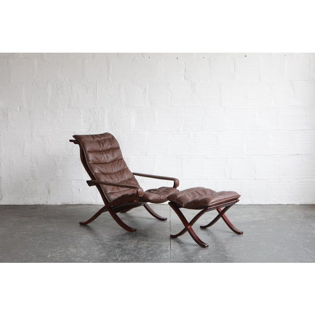 Mid 20th Century Vintage Mid Century Ekornes Lounge Chair and Ottoman For Sale - Image 5 of 6