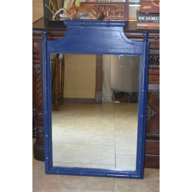 Asian Vintage Henry Link Bali Hai Faux Bamboo Mirror For Sale - Image 3 of 3