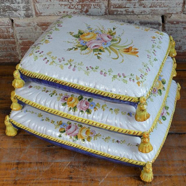 Vintage Faux Pouffe Terracotta Garden Seat - Image 4 of 11