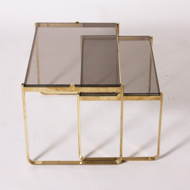 1960s Bronze Nesting Tables by Jacques Quinet C. 1960 - Set of 2 For Sale - Image 5 of 6