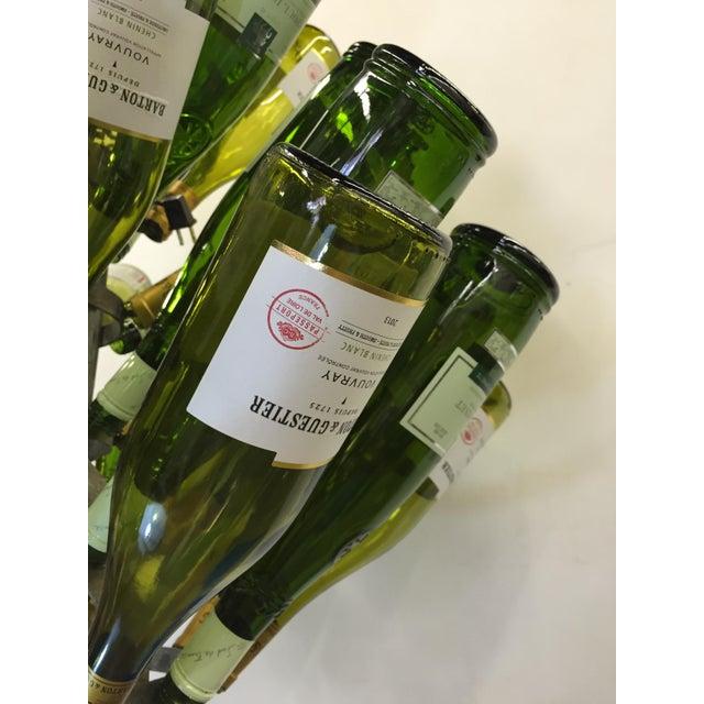 Vintage French Bottle Rack Chandelier - Image 4 of 5