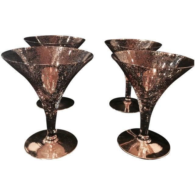 Vintage Crystal Martini Glasses - Set of 4 - Image 1 of 5