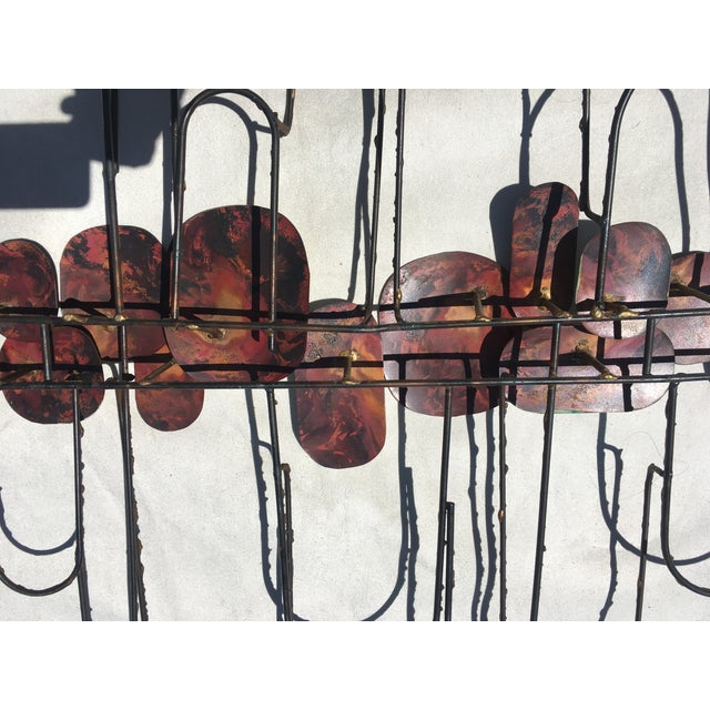 Large Cliff Hyink Abstract Organic Modern Enamel and Copper Wall Sculpture For Sale - Image 4 of 9