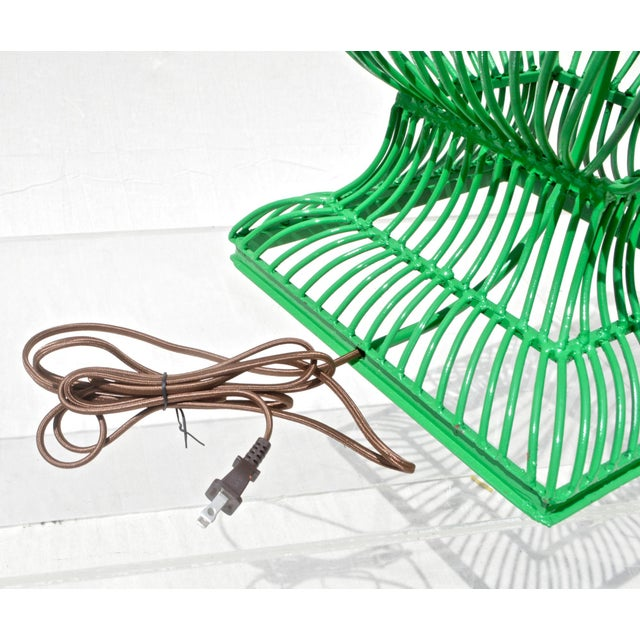 Birdcage Form Lamp in Kelly Green - Image 6 of 8