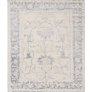 """Pasargad Fusion Bamboo Silk & Wool Runner - 2'6"""" X 8' For Sale"""