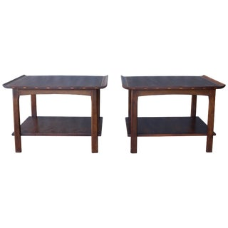 Pair of Walnut End Tables by Lane, 1960s For Sale