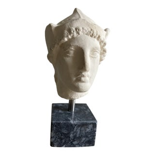 Contemporary Grecian Plaster and Stone Sculpture For Sale