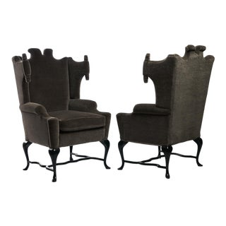 Arturo Pani Wingback Chairs - a Pair For Sale