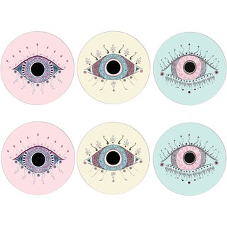 Set of 6 Evil Eye Placemats For Sale
