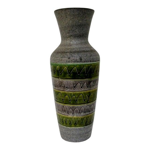 West German Ceramic Floor Vase For Sale