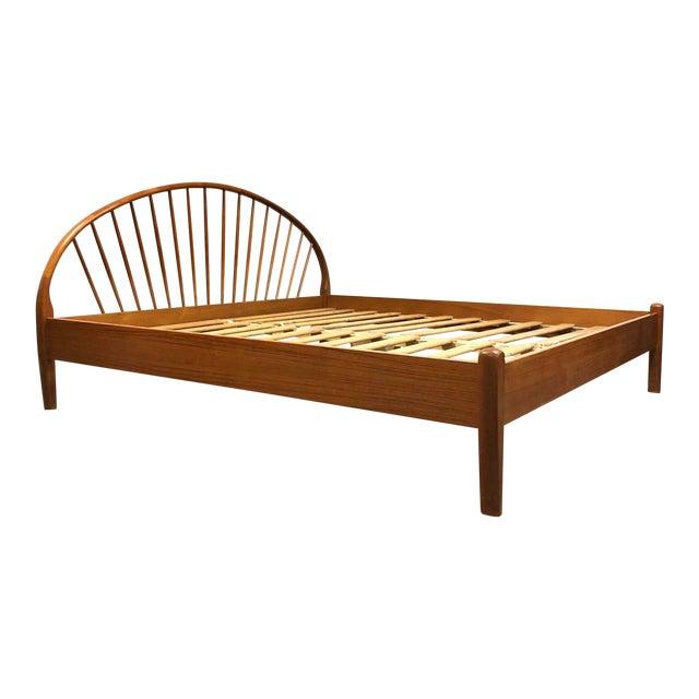 Jespersen Danish Modern Teak King Bed For Sale