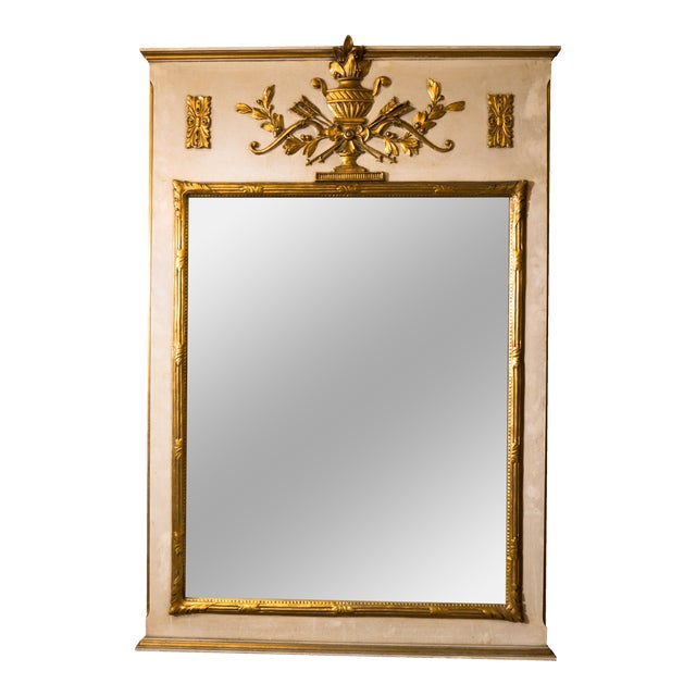 French Neoclassical Trumeau Mirror - Image 1 of 3
