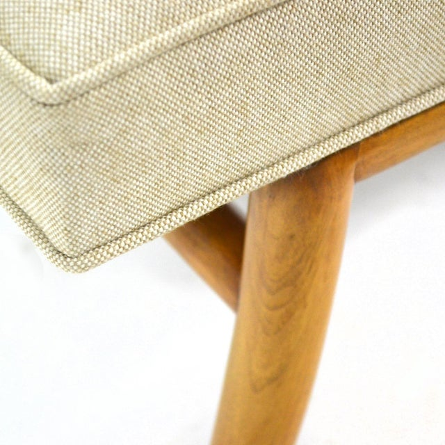 t.h. Robsjohn-Gibbings Saber Leg Bench by Widdicomb For Sale In Chicago - Image 6 of 9