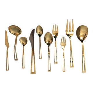 69 Piece Gold Flatware by Towle