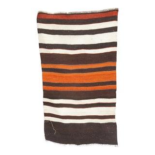 Striped Flat Weave Kilim Rug 2′3″ × 4′ For Sale