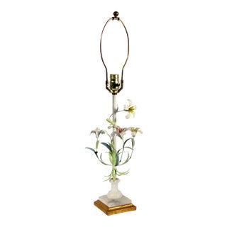 Italian Tole Floral Lamp