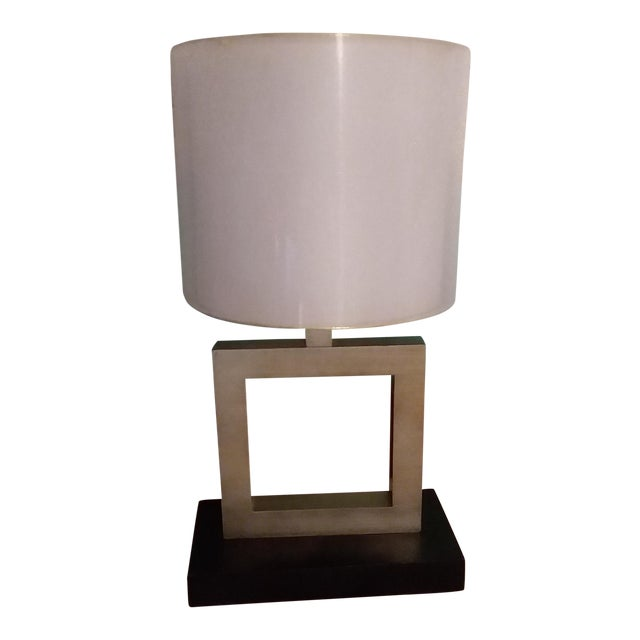 Modern Minimalist Square Table Lamp For Sale