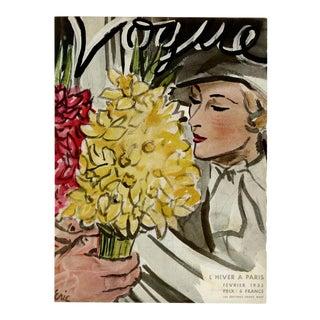"""""""Vogue Paris, February 1933"""" Original Vintage Fashion Magazine Cover. Very Rare!! For Sale"""