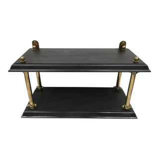 1940s Hollywood Regency Black and Gold Wall Shelves