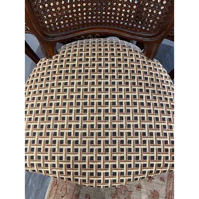 1920's French Country Walnut Dining Chairs - Set of 4 For Sale - Image 4 of 9