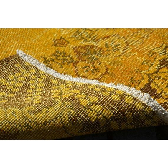 """Yellow Turkish Rug -- 3'11"""" X 6'9"""" - Image 6 of 6"""