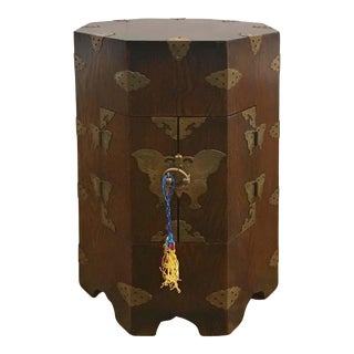 Vintage Octagonal Box Table For Sale